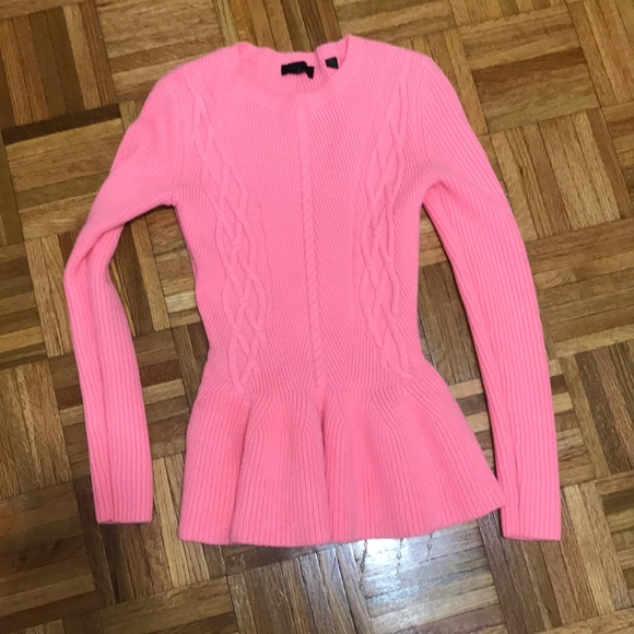 e12b5ce78bee78 Ted Baker Sweaters | Peplum Cable Knit Sweater Pink S 26 | Poshmark